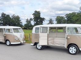 Pair of Campervans for weddings in Towcester